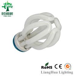 Super Compact High Lumen 60ww 65W CFL Glass Tube 20W Popular Lotus Energy Saving Light Bulb CFL Tube