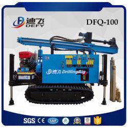 Dfq-100 Barato Montado Esteiras Máquina de perfuração de poços de água com o Compressor de Ar