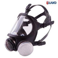 Tipo de Cartucho duplo máscara facial inteira Resuable Química Respirador Respirador máscara de gás do canister duplo