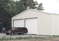 양쪽으로 여닫는 문 조립식 가벼운 강철 구조물 차 차고 건물 (KXD-135)