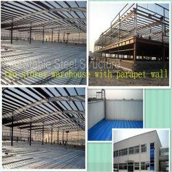 Prédio de construção de estruturas de Aço leve pré-fabricado Ambiental Depósito de metais de pré-fabrico Com Sala de escritório