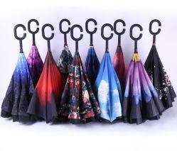 防風の逆の傘はChuvaのCホックの傘、Cのハンドルが付いている傘を逆にした