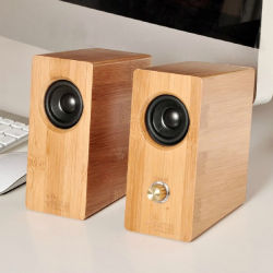 Bewegliche Bambusminischalldose-im Freienpartei-Computer-Lautsprecher-Stereoanlage-Ton