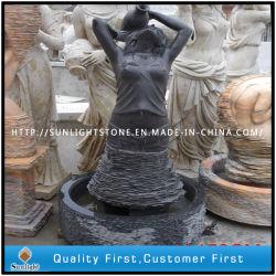Shanxi Negro/estatua de granito negro absoluto, la escultura de granito, Piedra Jardín estatua