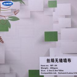 Tecido barato a granel de parede posterior, tecido de papel de parede em seda