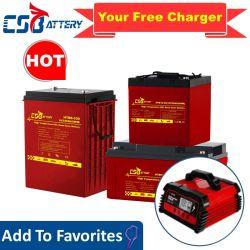 Csbattery 12V 100Ah/150Ah/200Ah Deep-Cycle VRLA bateria solar Gel/SLA/SMF/MF/AGM/Pilha Recarregável/UPS/Lead-Acid/Pack/6V/CSA