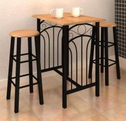 Tavolo da pranzo industriale in legno moderno con tavolo da Bistro Set di tabelle a barre alte