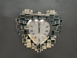 현대적인 디자인 HS 유리 기계식 조부 시계