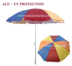 Mehrfarbenstrand-Regenschirm mit UVschutz (OCT-BUANF02)