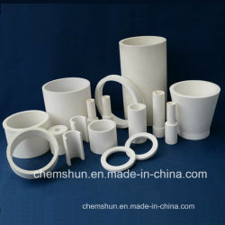 Al2O3 알루미늄 세라믹 튜브 중국 제조업체의 벤드 파이프 라이닝