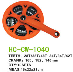 自転車部品カラフルなチャインホイールクランク (CW-1040)