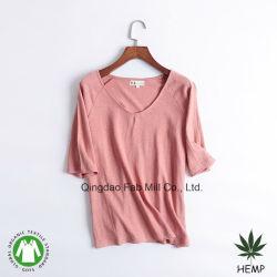 Cânhamo mulheres T-shirts de algodão orgânico (WSTV-01/02)