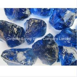 De zuivere Stenen van het Glas van de Kleur Bule Grote