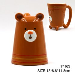 Urso de cerâmica Café Caneca moldado para Oferta Promocional