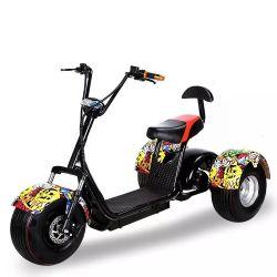 China American Capatain Citycoco barato 3 Rodas Scooter Eléctrico adultos1500W Motociclo eléctrico