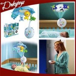 2-en-1 Control Remoto La música de proyección bebé cama móvil música Juguetes