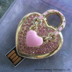 Lecteur Flash USB de bijoux avec forme de coeur