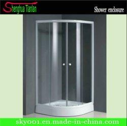 Coin salle de bains coulissantes en verre transparent simple douche Chambre (Tl-518)