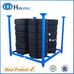 L'acier des pneus de rechange du chariot mobile commercial du système de stockage en rack