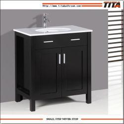 Klassische festes Holz-Badezimmer-Eitelkeit/Kirschbadezimmer-Eitelkeit/Wenge Badezimmer-Möbel (T9031)