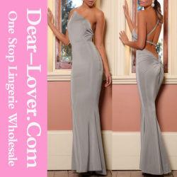 2016 Top de seda moda vestido de noche