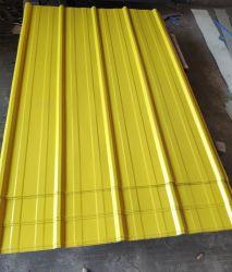 Cores Personalizadas Amarelo Folhas Telhado galvanizado revestido de zinco materiais de construção