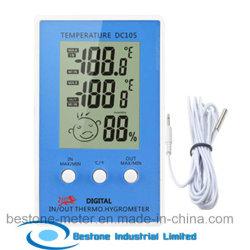 Horloge Hygro-Thermomètre avec température intérieure et extérieure (DC105)