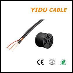 RG59 met Power/ RG59 +2c/ Solid PE/CCA-braiding/2*0,5mm2/0,75mm2 coaxiale kabel
