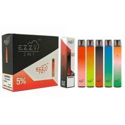 Preço grossista Vape descartáveis Vaporizador Ezzy populares 2 em 1 cigarros Electrónicos
