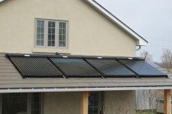 سقف مسطح جامع الضغط حرارة الأنابيب الشمسية