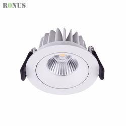 Il punto cinese del riflettore 10W dell'alluminio IP44 LED della fabbrica che illumina il soffitto commerciale giù illumina la lampadina della PANNOCCHIA Downlight