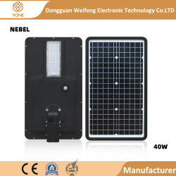 20W 40W 60watt resistente al agua IP65 Sensor de movimiento integrado todos en una calle la luz solar
