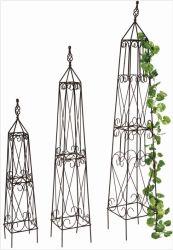 Металлические обелиск на цветы стальной проволоки решётки для садоводство (BS090004)