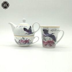 Tazze e piattino di tè di ceramica della teiera della porcellana del ristorante dell'hotel dei prodotti di più molta richiesta