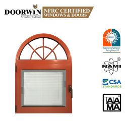 Gire a la inclinación de la ventana de aleación de aluminio con persianas incorporado el obturador