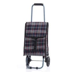 Мода простых классических популярных наиболее востребованных складные стили Клетчатую ткань магазинов передвижной тележке