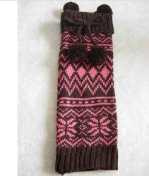 Caldo Moda Inverno Nero colore caldo gambe maglia gambe scaldabiberon