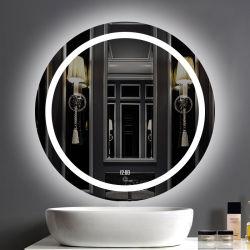 Intelligenter LED heller Spiegel des modernen Art-Anti-Fog runden Badezimmer-