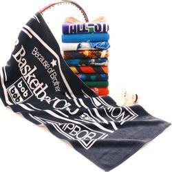 Небольшие заказы Custom Print ткань из микроволокна/хлопок полотенце на пляже черного цвета