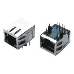 Jack modulaire RoHS avec LED CONNECTEUR RJ45 avec transformateur
