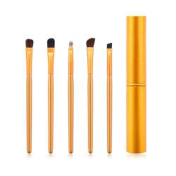 Professional 5HP Mini-Eye Makeup Escovas Definir Eyeshadow Eyeliner Lábio Sobrancelhas Makeup Kit de escovas