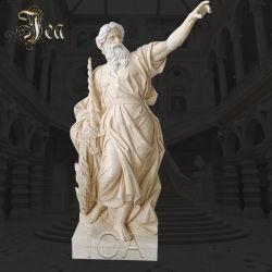 L'Ouest célèbre figure de la taille de la vie part la sculpture de l'Égypte statue de pierre en marbre jaune
