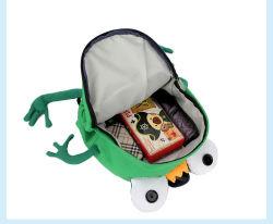 かわいい小型動物デザイナーは一次女の子の男の子の漫画のカエルの子供の学校のバックパックのための子供の学校の学生かばん袋をBackpacks