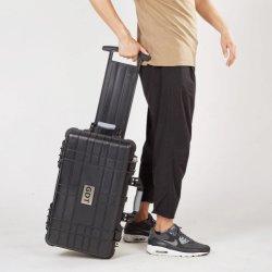 Prueba de agua maletín de plástico duro equipo de la maleta de viaje Maletín con ruedas y espuma