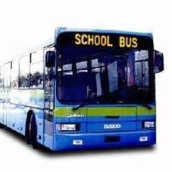 LED de color única ruta de autobuses mostrar en el sistema de información del pasajero