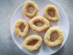 Замороженный Кальмар Breaded кольцо, Gigas, Mter: 4-9см, 50% покрытием, не Prefty Prefry/FDA