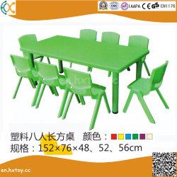 Kids Table Rectangle en plastique pour les enfants du préscolaire mobilier