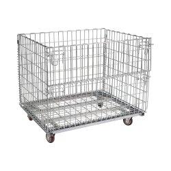 Los grandes supermercados de malla de metal galvanizado Contenedor de almacenamiento de rollos