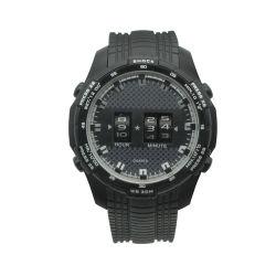 Relojes deportivos de los hombres de moda con caja de plástico y de la banda de PVC (JY-SQ070-A)