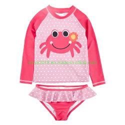De nouveaux enfants 2PCS Fille de la conception de crabe de maillots de bain anti-UV haute Soft Kids Maillot de bain